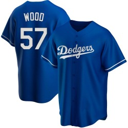 Alex Wood Los Angeles Dodgers Men's Replica Alternate Jersey - Royal
