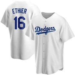 Andre Ethier Los Angeles Dodgers Men's Replica Home Jersey - White