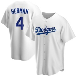 Babe Herman Los Angeles Dodgers Men's Replica Home Jersey - White