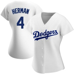 Babe Herman Los Angeles Dodgers Women's Authentic Home Jersey - White