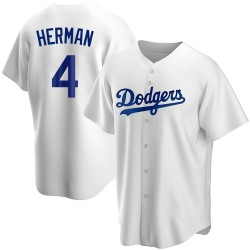 Babe Herman Los Angeles Dodgers Youth Replica Home Jersey - White