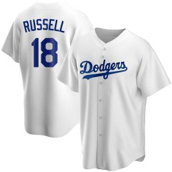 Bill Russell Los Angeles Dodgers Men's Replica Home Jersey - White
