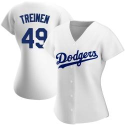 Blake Treinen Los Angeles Dodgers Women's Authentic Home Jersey - White