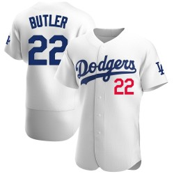 Brett Butler Los Angeles Dodgers Men's Authentic Home Official Jersey - White