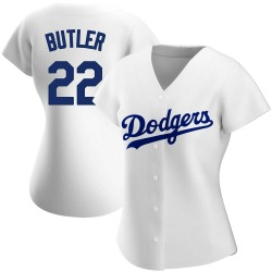 Brett Butler Los Angeles Dodgers Women's Authentic Home Jersey - White