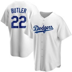 Brett Butler Los Angeles Dodgers Youth Replica Home Jersey - White
