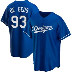 Brett de Geus Los Angeles Dodgers Men's Replica Alternate Jersey - Royal