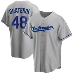 Brusdar Graterol Los Angeles Dodgers Men's Replica Road Jersey - Gray