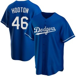 Burt Hooton Los Angeles Dodgers Youth Replica Alternate Jersey - Royal