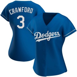 Carl Crawford Los Angeles Dodgers Women's Authentic Alternate Jersey - Royal