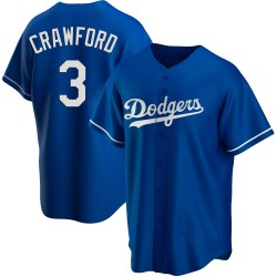 Carl Crawford Los Angeles Dodgers Youth Replica Alternate Jersey - Royal