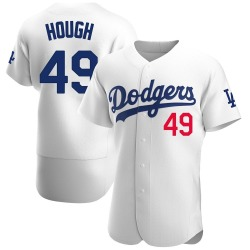 Charlie Hough Los Angeles Dodgers Men's Authentic Home Official Jersey - White