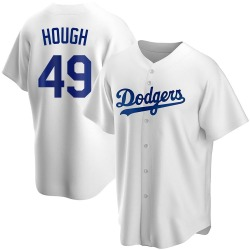 Charlie Hough Los Angeles Dodgers Men's Replica Home Jersey - White