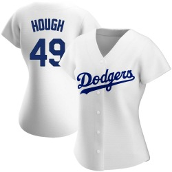 Charlie Hough Los Angeles Dodgers Women's Authentic Home Jersey - White