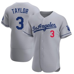 Chris Taylor Los Angeles Dodgers Men's Authentic Away Official Jersey - Gray