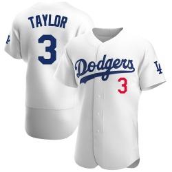 Chris Taylor Los Angeles Dodgers Men's Authentic Home Official Jersey - White