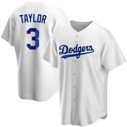 Chris Taylor Los Angeles Dodgers Men's Replica Home Jersey - White