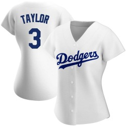 Chris Taylor Los Angeles Dodgers Women's Authentic Home Jersey - White
