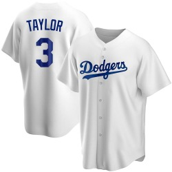 Chris Taylor Los Angeles Dodgers Youth Replica Home Jersey - White