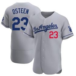 Claude Osteen Los Angeles Dodgers Men's Authentic Away Official Jersey - Gray