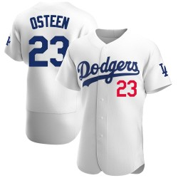 Claude Osteen Los Angeles Dodgers Men's Authentic Home Official Jersey - White