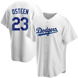 Claude Osteen Los Angeles Dodgers Youth Replica Home Jersey - White