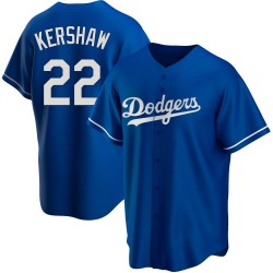Clayton Kershaw Los Angeles Dodgers Youth Replica Alternate Jersey - Royal