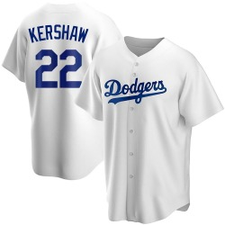 Clayton Kershaw Los Angeles Dodgers Youth Replica Home Jersey - White