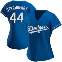 Darryl Strawberry Los Angeles Dodgers Women's Authentic Alternate Jersey - Royal