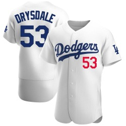 Don Drysdale Los Angeles Dodgers Men's Authentic Home Official Jersey - White
