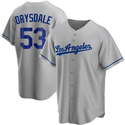 Don Drysdale Los Angeles Dodgers Youth Replica Road Jersey - Gray