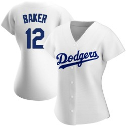 Dusty Baker Los Angeles Dodgers Women's Replica Home Jersey - White