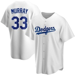 Eddie Murray Los Angeles Dodgers Men's Replica Home Jersey - White