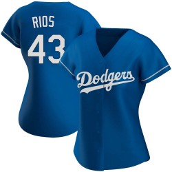 Edwin Rios Los Angeles Dodgers Women's Authentic Alternate Jersey - Royal