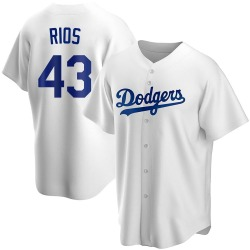 Edwin Rios Los Angeles Dodgers Youth Replica Home Jersey - White