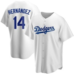 Enrique Hernandez Los Angeles Dodgers Youth Replica Home Jersey - White