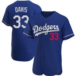 Eric Davis Los Angeles Dodgers Men's Authentic Alternate Jersey - Royal