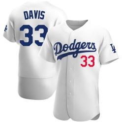 Eric Davis Los Angeles Dodgers Men's Authentic Home Official Jersey - White
