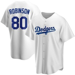 Errol Robinson Los Angeles Dodgers Men's Replica Home Jersey - White