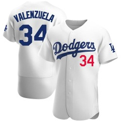 Fernando Valenzuela Los Angeles Dodgers Men's Authentic Home Official Jersey - White