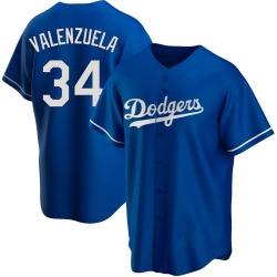 Fernando Valenzuela Los Angeles Dodgers Men's Replica Alternate Jersey - Royal