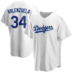 Fernando Valenzuela Los Angeles Dodgers Men's Replica Home Jersey - White