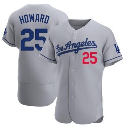 Frank Howard Los Angeles Dodgers Men's Authentic Away Official Jersey - Gray