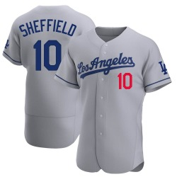 Gary Sheffield Los Angeles Dodgers Men's Authentic Away Official Jersey - Gray