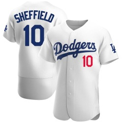 Gary Sheffield Los Angeles Dodgers Men's Authentic Home Official Jersey - White