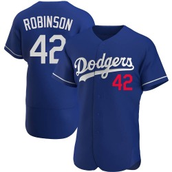Jackie Robinson Los Angeles Dodgers Men's Authentic Alternate Jersey - Royal