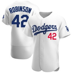 Jackie Robinson Los Angeles Dodgers Men's Authentic Home Official Jersey - White