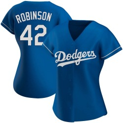 Jackie Robinson Los Angeles Dodgers Women's Authentic Alternate Jersey - Royal