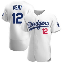 Jeff Kent Los Angeles Dodgers Men's Authentic Home Official Jersey - White