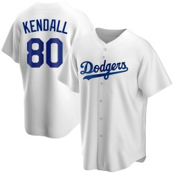 Jeren Kendall Los Angeles Dodgers Men's Replica Home Jersey - White
